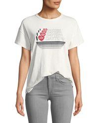 Rag & Bone - I Love Daytona Crewneck Short-sleeve Cotton Tee - Lyst