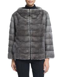 J. Mendel | Zip-front Reversible Fur Jacket | Lyst