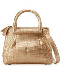 Nancy Gonzalez - New Mini Plisse Crocodile Crossbody Bag - Lyst