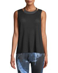 Beyond Yoga - Mesh Me Up Scoop-neck Muscle Tank - Lyst