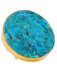 Devon Leigh Adjustable Turquoise Ring - Blue