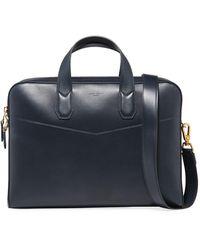 Dunhill Men's Duke Single-document Leather Briefcase - Blue