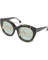 Alice + Olivia - Walker Love You Cat-eye Sunglasses - Lyst