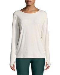 Onzie - Diamond Back Long-sleeve Active Top - Lyst