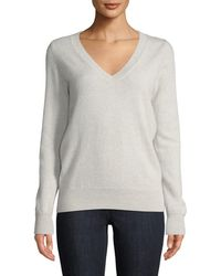 Neiman Marcus - Cashmere V-neck Sweater - Lyst