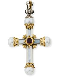 Konstantino - Hestia Mother-of-pearl Cross Pendant - Lyst