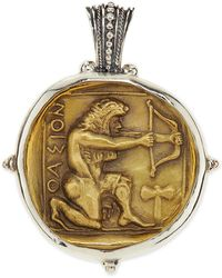 Konstantino - Men's Sterling And Bronze Hercules Pendant - Lyst