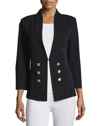 Misook - 3/4-sleeve Button-front Jacket - Lyst