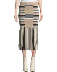 Tabula Rasa - Rosetti Striped Metallic Midi Skirt - Lyst