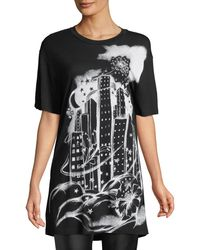 Boutique Moschino - Graphic-print Long Tee - Lyst