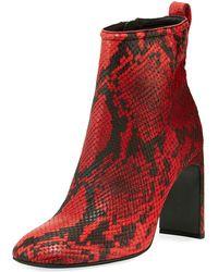 competitive price df5c8 c66ba Rag   Bone - Ellis Snake-print Leather Booties - Lyst