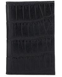 Neiman Marcus Slim Alligator Credit Card Case - Black