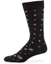 Etro - Men's Geometric Paisley Socks - Lyst