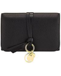 Chloé | Alphabet Pebbled Leather Compact Wallet | Lyst