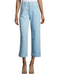 MiH Jeans | Caron High-rise Cropped Wide Leg Pants | Lyst