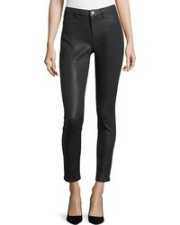 Elie Tahari | Azella Coated-denim Jeans | Lyst
