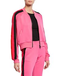 cebc76d2a97d Lyst - Off-White c o Virgil Abloh Stripes-and-roses Embroidered Tech ...