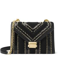 MICHAEL Michael Kors - Whitney Large Studded Flap Shoulder Bag - Lyst 54395ff0ae2bf