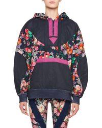 Isabel Marant - Zansel Hawaiian-print Oversized Hooded Sweatshirt - Lyst