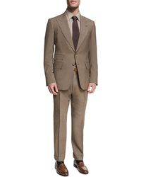 Tom Ford - Shelton Base Mélange Wool-silk Peak-lapel Two-piece Suit - Lyst