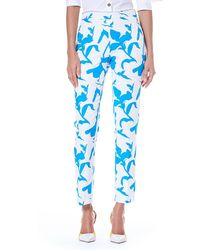 Carolina Herrera - Iris Spring Side-zip Cotton Faille Straight-leg Pants - Lyst