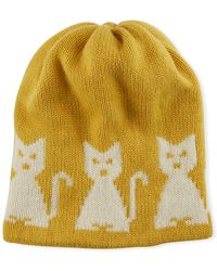 Moncler Grenoble - Wool-cashmere Cat-intarsia Beanie Hat - Lyst