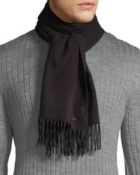 Paul Smith - Men's Multi-stripe Wool Herringbone Scarf - Lyst