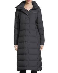 The North Face - Cryos Long Zip-front Quilted Puffer Parka Coat - Lyst
