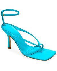 Bottega Veneta Square-toe Thong Sandals - Blue