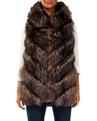 Gorski - Reversible Fox-fur & Quilted Down Vest - Lyst