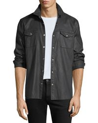 John Varvatos - Men's Coated Denim Sport Shirt - Lyst