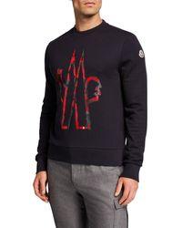 Moncler Men's Logo Graphic Sweatshirt - Blue