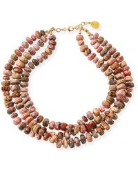 Devon Leigh 14k Multi-strand Beaded Necklace - Metallic