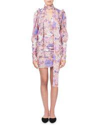 Magda Butrym - Kartagena Long-sleeve Floral-print Ruched Silk Dress - Lyst