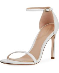 Stuart Weitzman - Nudistsong 90mm Minimalist Leather Sandals - Lyst