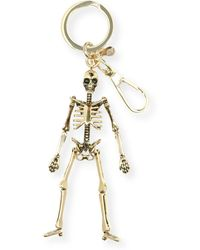 Alexander McQueen | Brass Skeleton Key Ring | Lyst