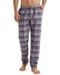 Hanro Men's Thilo Plaid Cotton Pyjama Pants - Multicolour