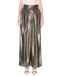 Marc Jacobs High-rise Wide Leg Sequined Dressy Pants - Gray