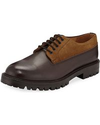 Hender Scheme - Percy Leather & Suede Lace-up Shoes - Lyst