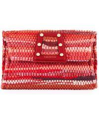 Kooreloo 3d Woven Clutch Bag - Red