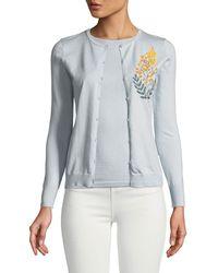 Zac Posen - Cashmere Silk Button-front Embroidered Cardigan - Lyst