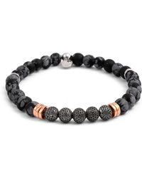 Tateossian Men's Stonehenge Bead Bracelet - Multicolour