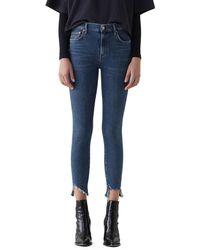 Agolde Sophie Step-hem Skinny Jeans - Blue