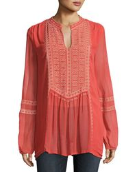 Tolani - Lauren Embroidered Boho Blouse - Lyst