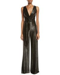 Ramy Brook - Marybeth Shimmer Wrap Front Jumpsuit - Lyst