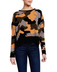 Lisa Todd Fireside Camo Chenille Sweater W/ Side Slits - Multicolor