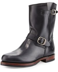 Frye - John Addison Leather Engineer Boot - Lyst
