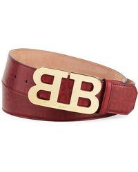 Bally - Mirror B Stamped Leather Belt - Lyst