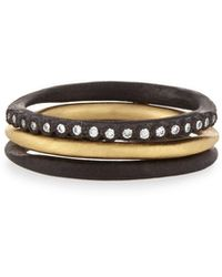 Armenta - Old World Midnight Stacking Rings, Set Of Three - Lyst
