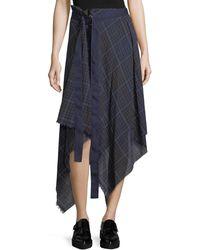 Public School | Danen Plaid Asymmetric Skirt | Lyst